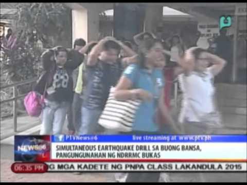 Simultaneous earthquake drill sa buong bansa, pangungunahan ng NDRRMC bukas [3/26/15]