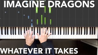 Download Lagu Imagine Dragons - Whatever It Takes Piano tutorial | Sheets Gratis STAFABAND