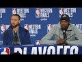 Steph Curry & Kevin Durant Postgame Interview - Game 4 | Rockets vs Warriors | 2018 NBA West Finals thumbnail