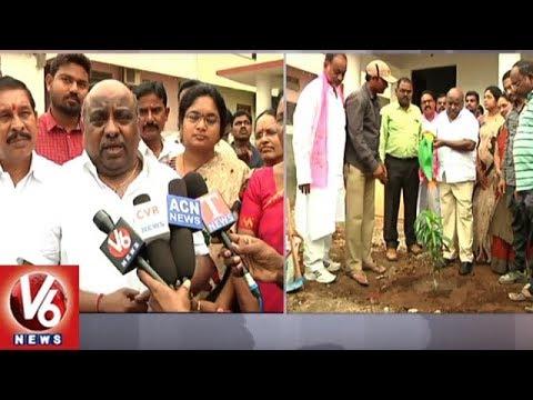 Minister Jogu Ramanna Takes Vanajeevi Ramaiah's Green Challenge, Plant Saplings | Adilabad | V6 News