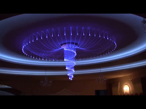 Fiber Optic Chandellier. Decorative Lighting. Led Lighting. Fiber Optic Lamp. Fiber Optic Lighting
