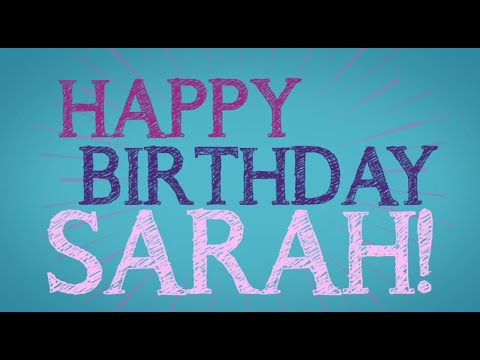 Happy Birthday Sarah Geronimo video