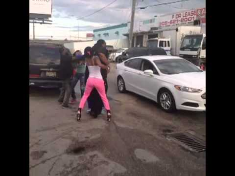 STRIPPER HOES FIGHT @ THE OFFICE MIAMI