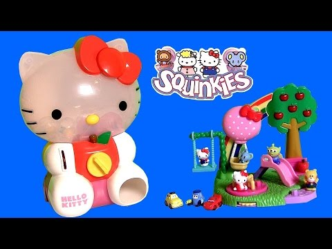 Huge Hello Kitty Squinkies Dispenser ❤ with 8 Exclusive Surprise Toys by DisneyCollector ToyChannel