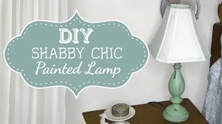 DIY: How to Paint Shabby Chic Lamp Furniture Tutorial | Painting & Decorating