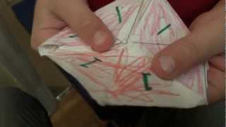 Trihexaflexagon demonstrated by my 5 year old