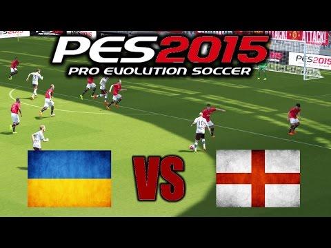 Украина - Англия РЕВАНШ: Первый матч в Pro Evolution Soccer 2015