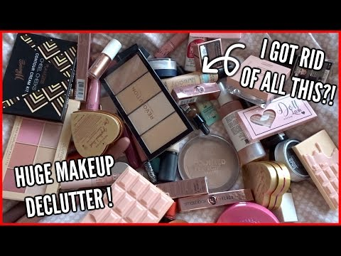 HUGE MAKEUP DECLUTTER...I got rid of so much