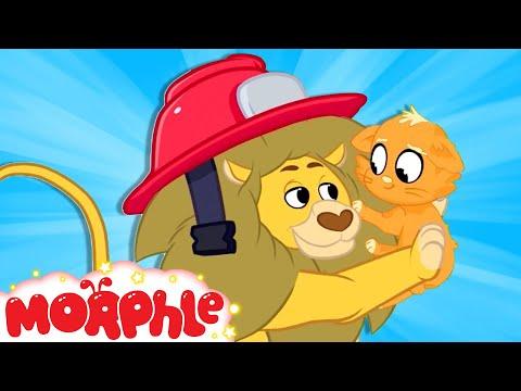 Fireman Cat - My Magic Pet Morphle | Cartoons For Kids | Morphle TV | BRAND NEW
