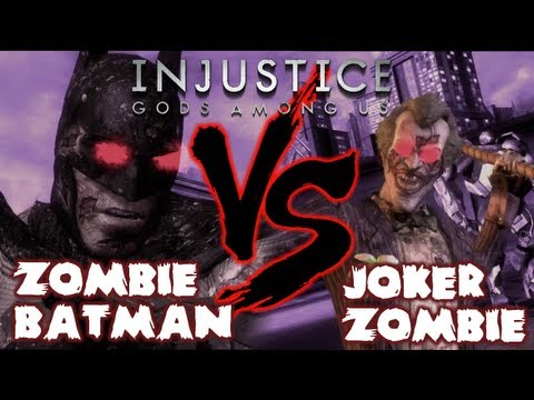 INJUSTICE: GODS AMONG US - ZOMBIE DLC GAMEPLAY - Batman (Arkham City) VS The Joker (Arkham City) [HD]