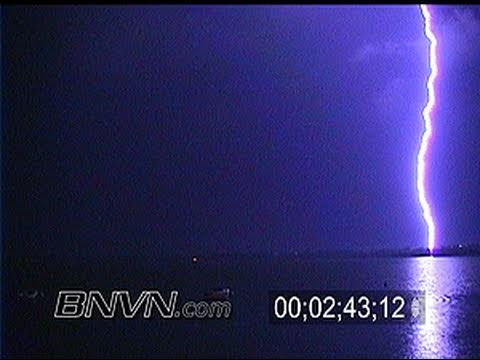 7/2/2000. Lightning footage over Lake Buffalo MN