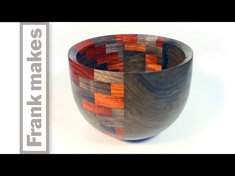 Woodturning A Segmented Walnut Bowl