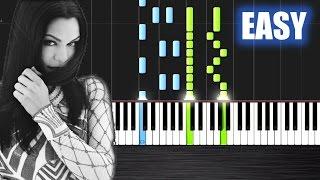 Jessie J - Flashlight - EASY Piano Tutorial by PlutaX - Synthesia