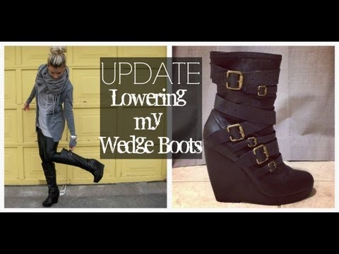 Update: The shortening of my wedge boots