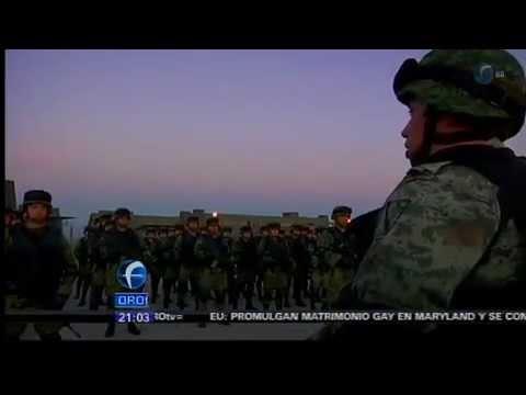 Militares parten a Ciudad Mante, Tamaulipas.