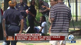 Shooting outside of Detroit Police precinct on city's west side