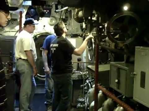 USS COD Navy Week 2012 Running the Number 4 Main Engine - 03