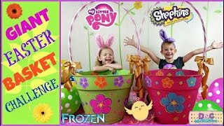 GIANT EASTER BASKET Biggest Surprise Eggs Challenge
