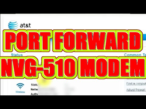 Tutorial: How To Port Forward Motorola NVG-510 for AT&T U-Verse (Minecraft/IP Camera)