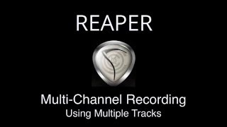 Multi-Channel Recording Using Multiple Tracks in REAPER