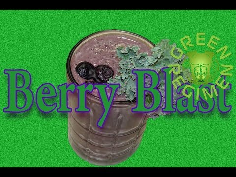 """The Berry Blast""...How to make a Delicious Green Smoothie"