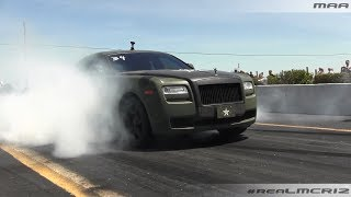 INSANE Rolls Royce Ghost Burnout!