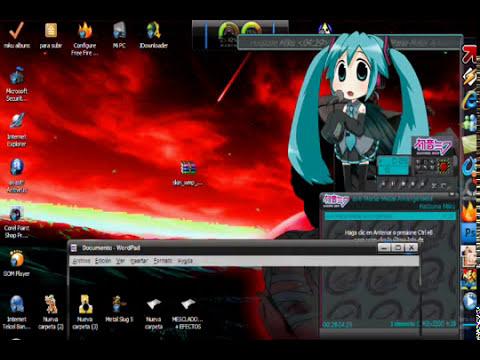 skin hatsune miku para wmp (windows media player)