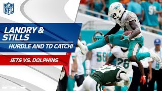 Jarvis Landry's Ridiculous Hurdle After the Grab & Kenny Stills' TD! | Jets vs. Dolphins | NFL Wk 7