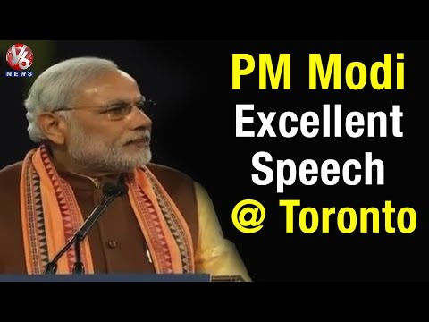 PM Modi excellent speech at Indo-Canadians meet in Toronto (16-04-2015)