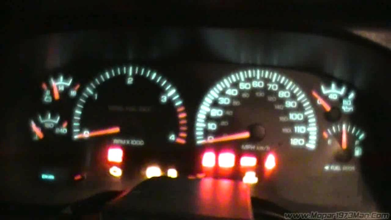 How To Test The Instrument Cluster On You Dodge Ram