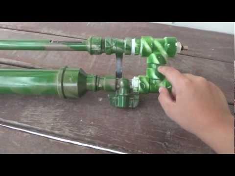 Arma de pressão caseira pvc Semi-automática