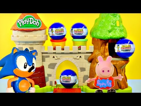 Play Doh Sonic The Hedgehog Surprise Eggs Peppa Pig Flying Olaf Disney Frozen By Dctc video