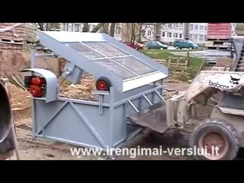 Topsoil Screener. Vibrating screen. Sifter - DIY (Do It Yourself) - Homemade from drawings