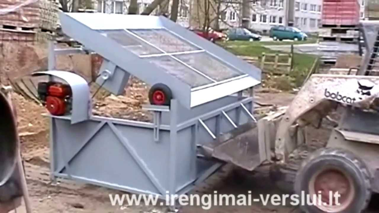 Topsoil Screener Vibrating Screen Sifter Diy Do It Yourself Homemade From Drawings Youtube