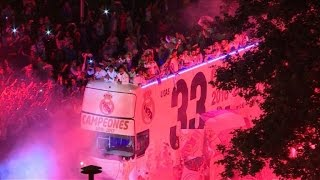 Football: Thousands flock to Madrid as Real celebrate title