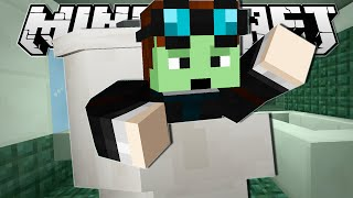 Minecraft | JUMPED INTO A TOILET!! | Tall Dropper Custom Map