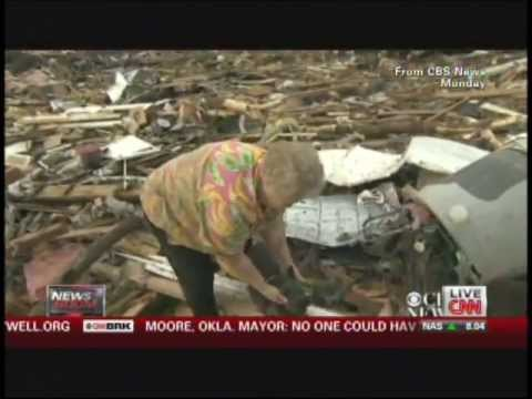 AMAZING VIDEO from Tornado / Dog Found By Owner During Interview  CBS / CNN BEST VIDEO