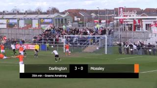 Darlington 3-1 Mossley - Evo-Stik First Division North - 2014/15