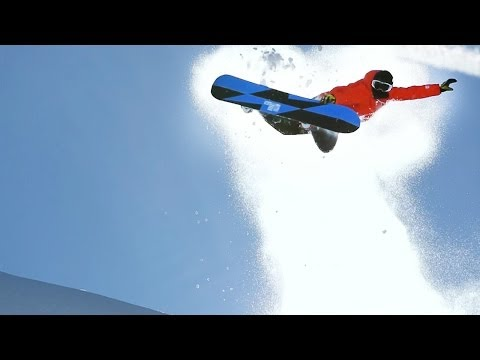 Freeride snowboarding in Bavarian backcountry