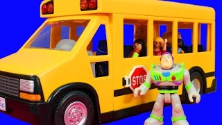 Wheels On The Bus Go Round and Round Nursery Rhymes Daniel Tiger Caillou Toy Story Buzz Lightyear