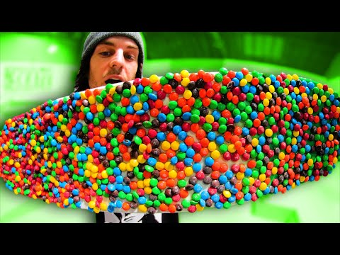 WE MADE M&Ms CANDY INTO SKATEBOARD GRIPTAPE!