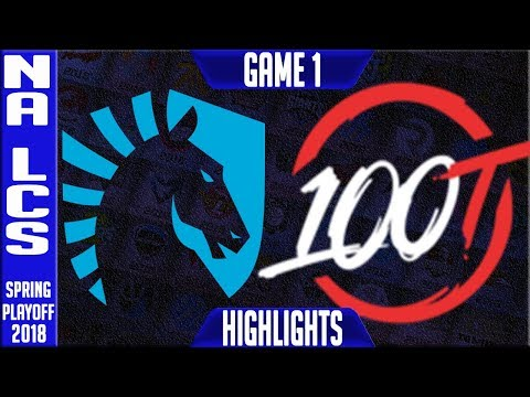 TL vs 100 Highlights Game 1 | NA LCS Grand Final Playoffs Spring 2018 Team Liquid vs 100 Thieves G1