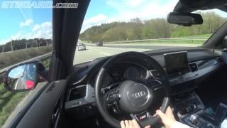 [60 fps] Try #2 MTM Audi S8 320 km/h / 200 mph GPS Autobahn attack (fastest!) speedo went to ZERO