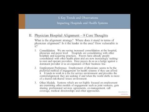 5 Key Trends Observations Impacting Hospitals Health Systems