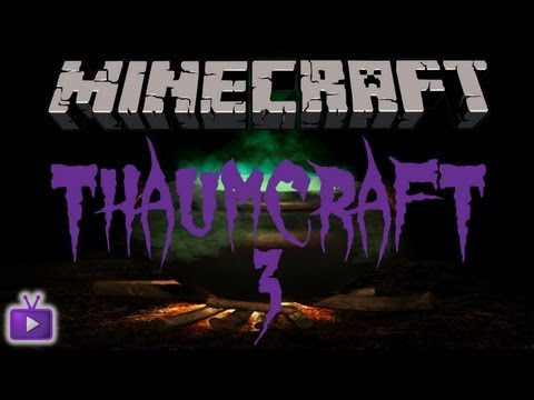 Minecraft: Thaumcraft 3 with Lewis - Wand of the apprentice. Thaumonomicon and Research Table #1