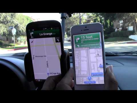 LIVE Navigation Comparison - iPhone 5 vs. Galaxy S3 (Part 1)