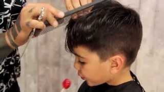 Haircut for child boy