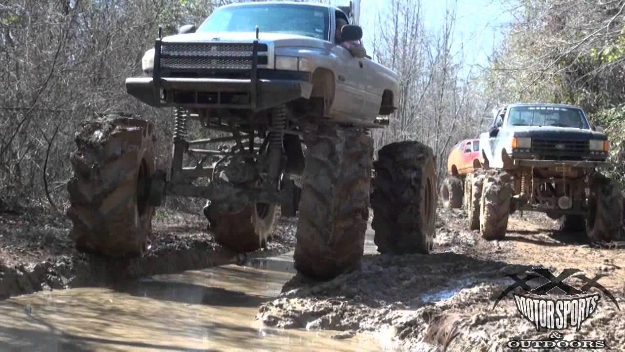 Lifted trucks mud bogging