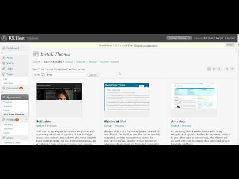 How to add a theme to wordpress (without FTP) in seconds!