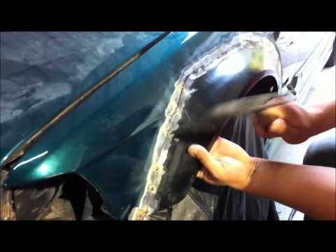 BMW e36 M3 Fender Flare tack-weld and grind. Wide Flares Bimerok